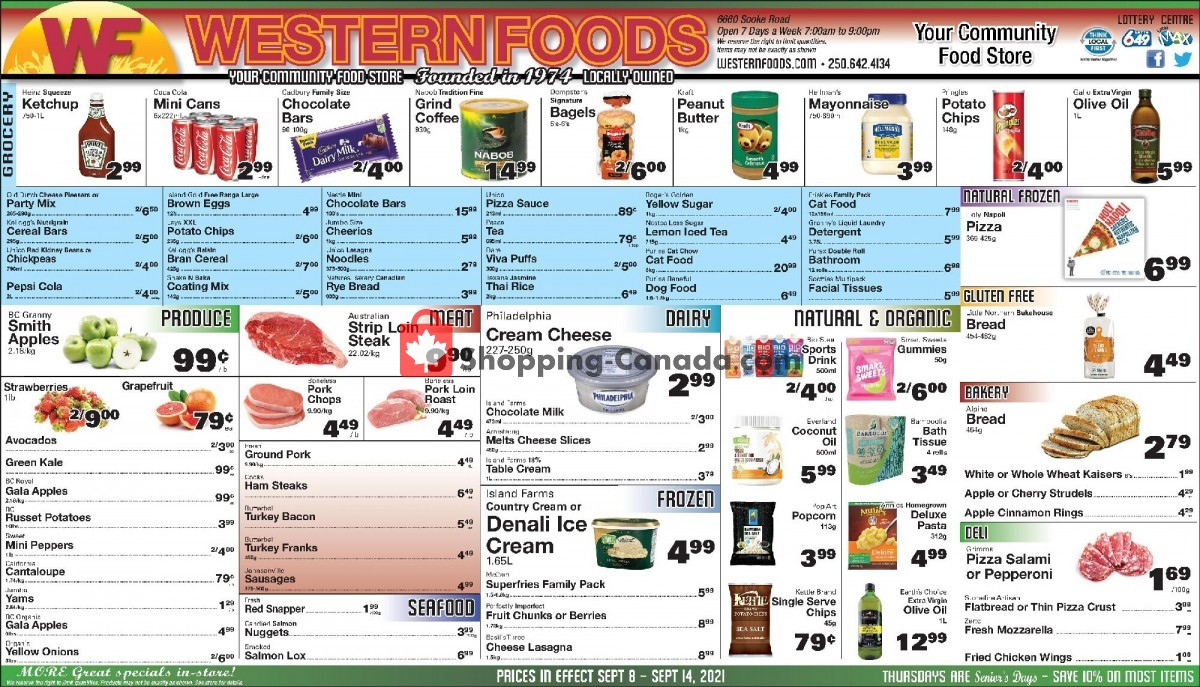 Flyer Western Foods Canada - from Wednesday September 8, 2021 to Tuesday September 14, 2021