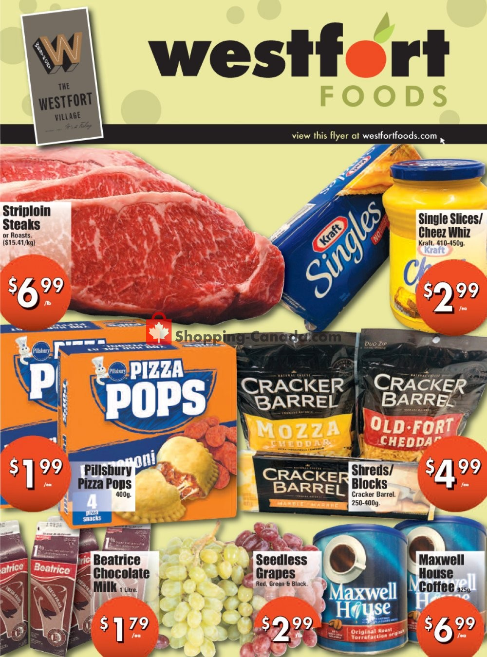 Flyer Westfort Foods Canada - from Friday January 22, 2021 to Thursday January 28, 2021