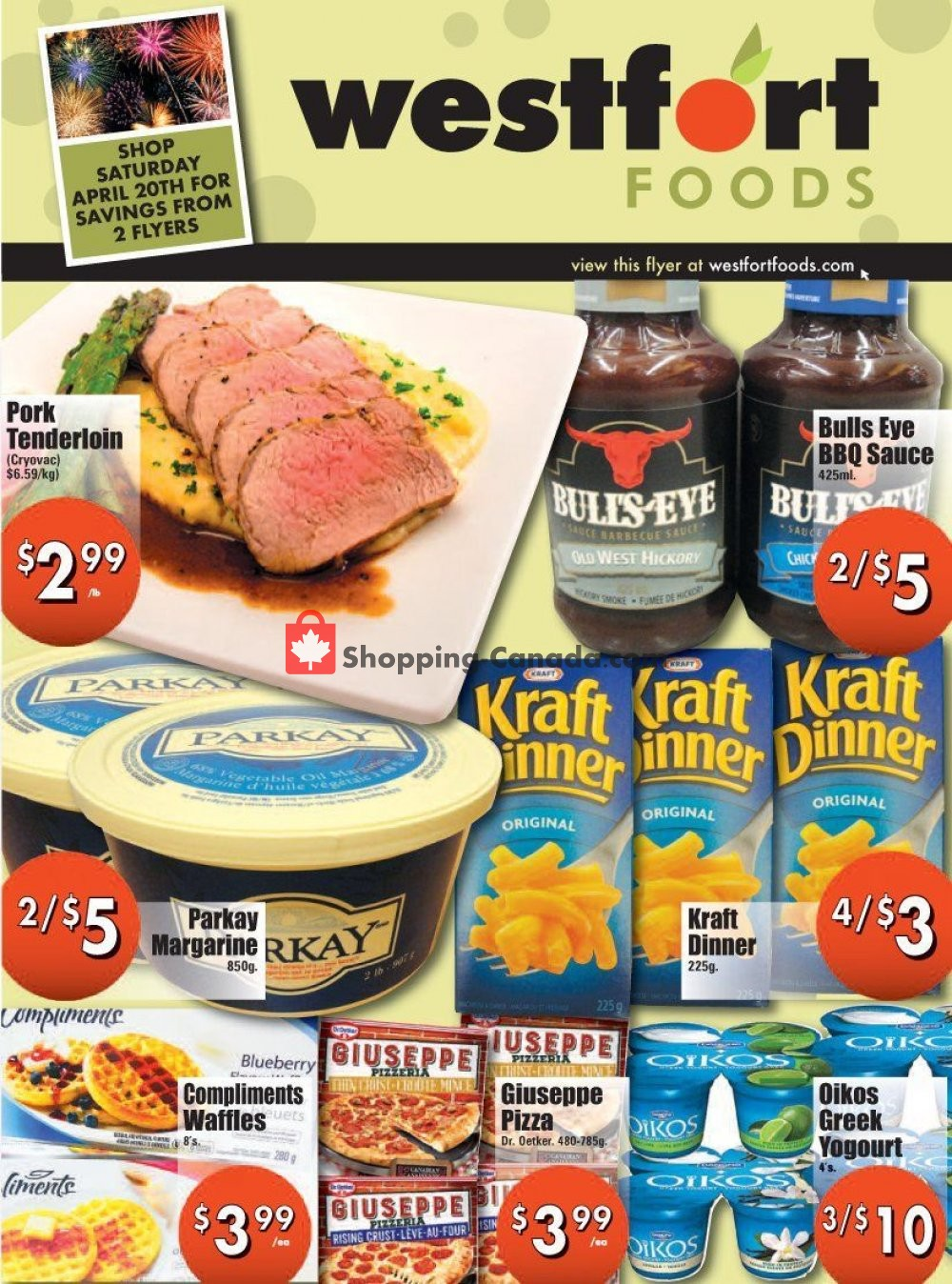Flyer Westfort Foods Canada - from Saturday April 20, 2019 to Thursday April 25, 2019