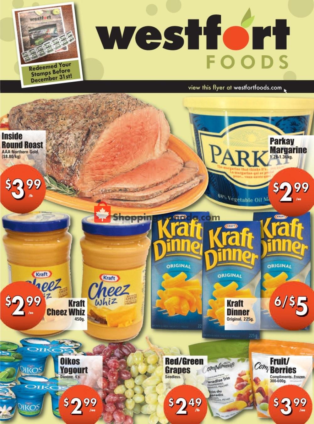 Flyer Westfort Foods Canada - from Friday December 6, 2019 to Thursday December 12, 2019