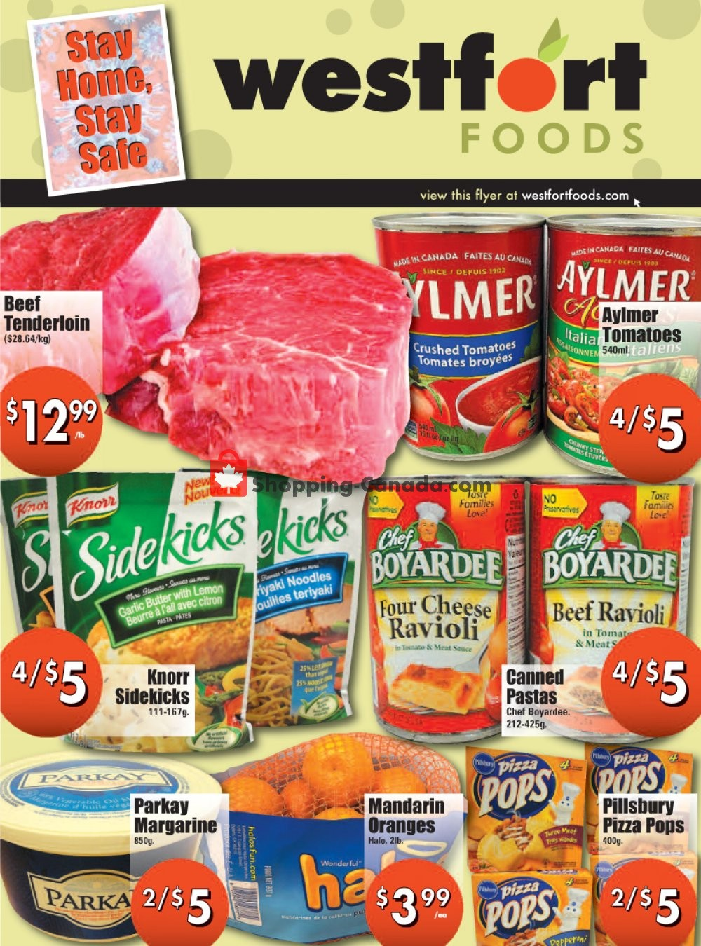 Flyer Westfort Foods Canada - from Friday April 24, 2020 to Thursday April 30, 2020