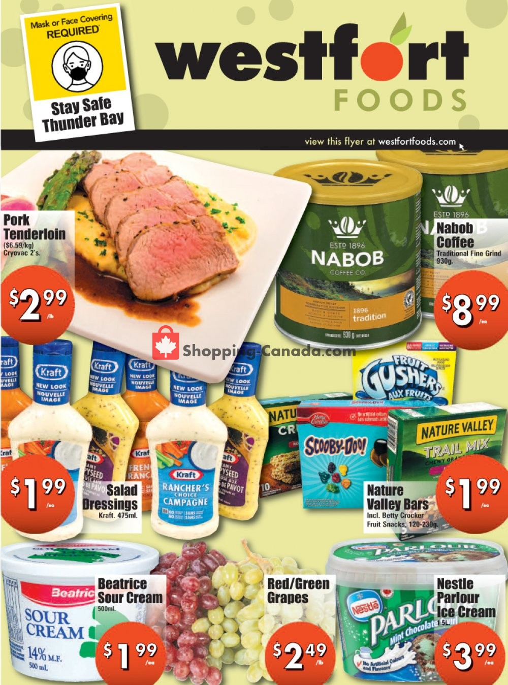 Flyer Westfort Foods Canada - from Friday August 7, 2020 to Thursday August 13, 2020