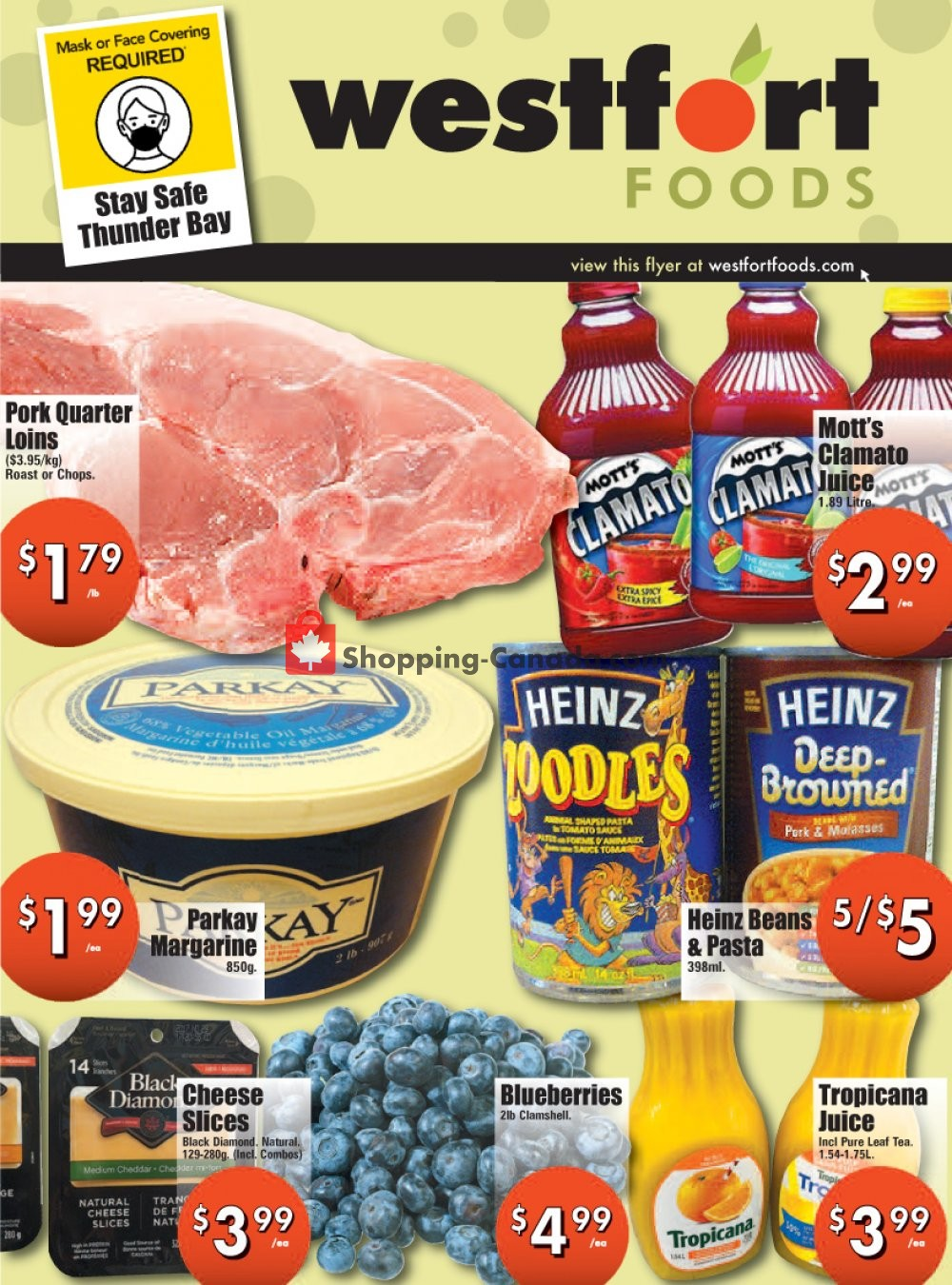 Flyer Westfort Foods Canada - from Friday July 31, 2020 to Thursday August 6, 2020