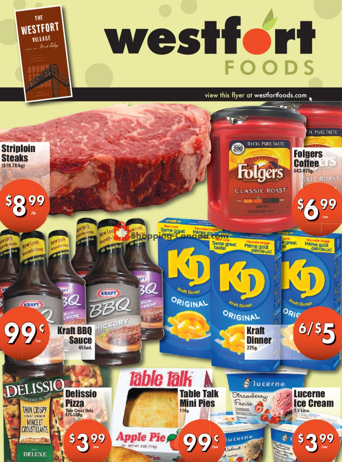 Flyer Westfort Foods Canada - from Friday July 9, 2021 to Thursday July 15, 2021