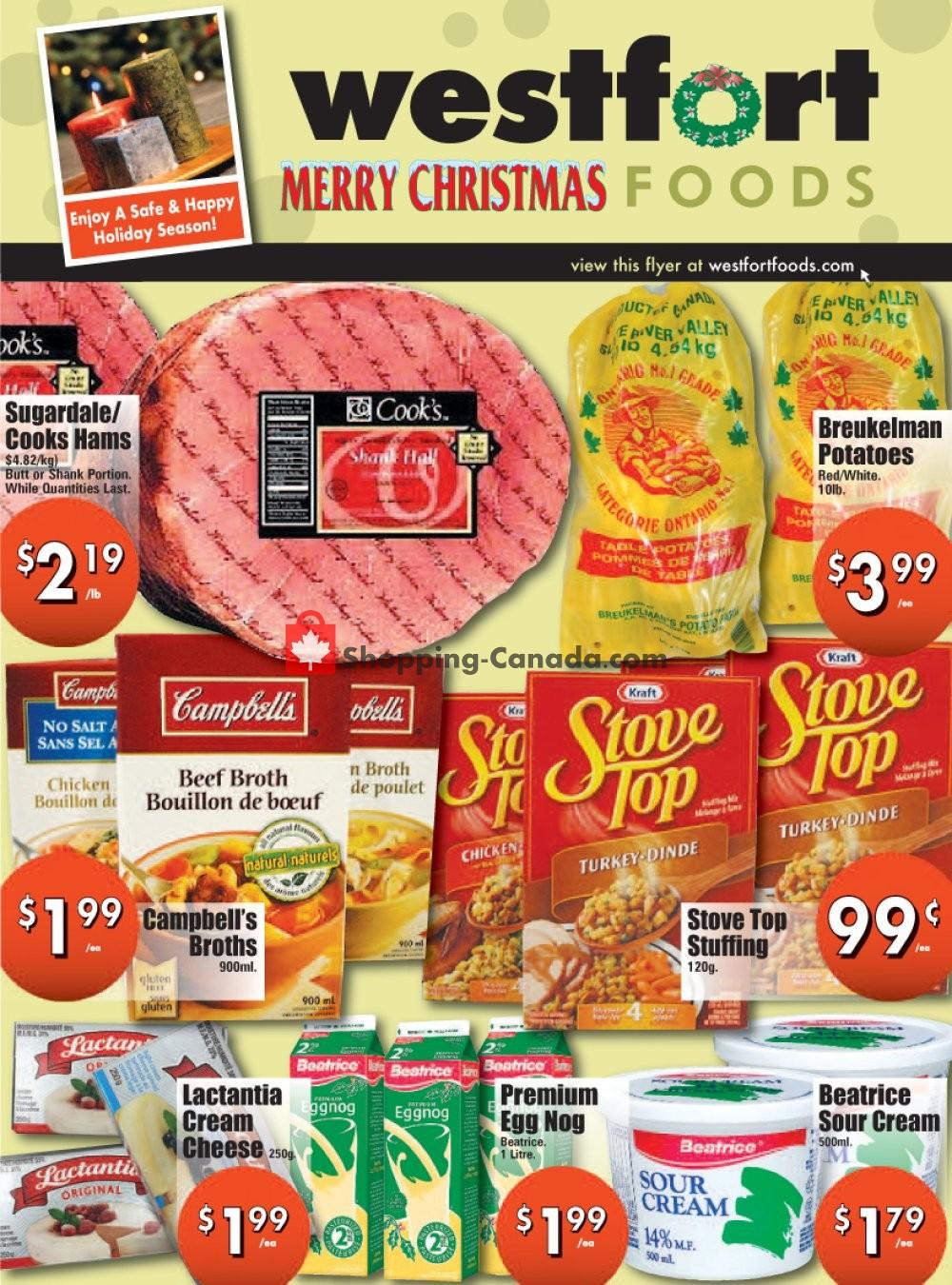 Flyer Westfort Foods Canada - from Friday December 18, 2020 to Thursday December 24, 2020