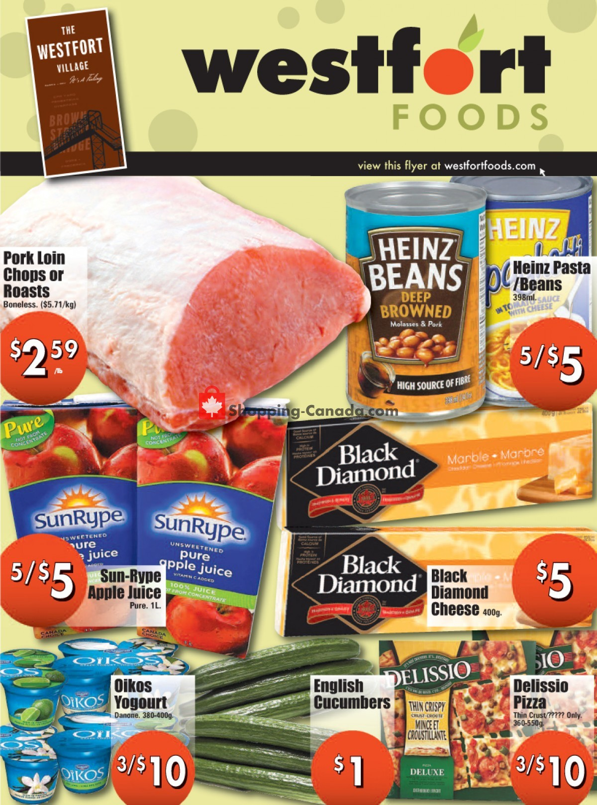 Flyer Westfort Foods Canada - from Friday April 23, 2021 to Thursday April 29, 2021