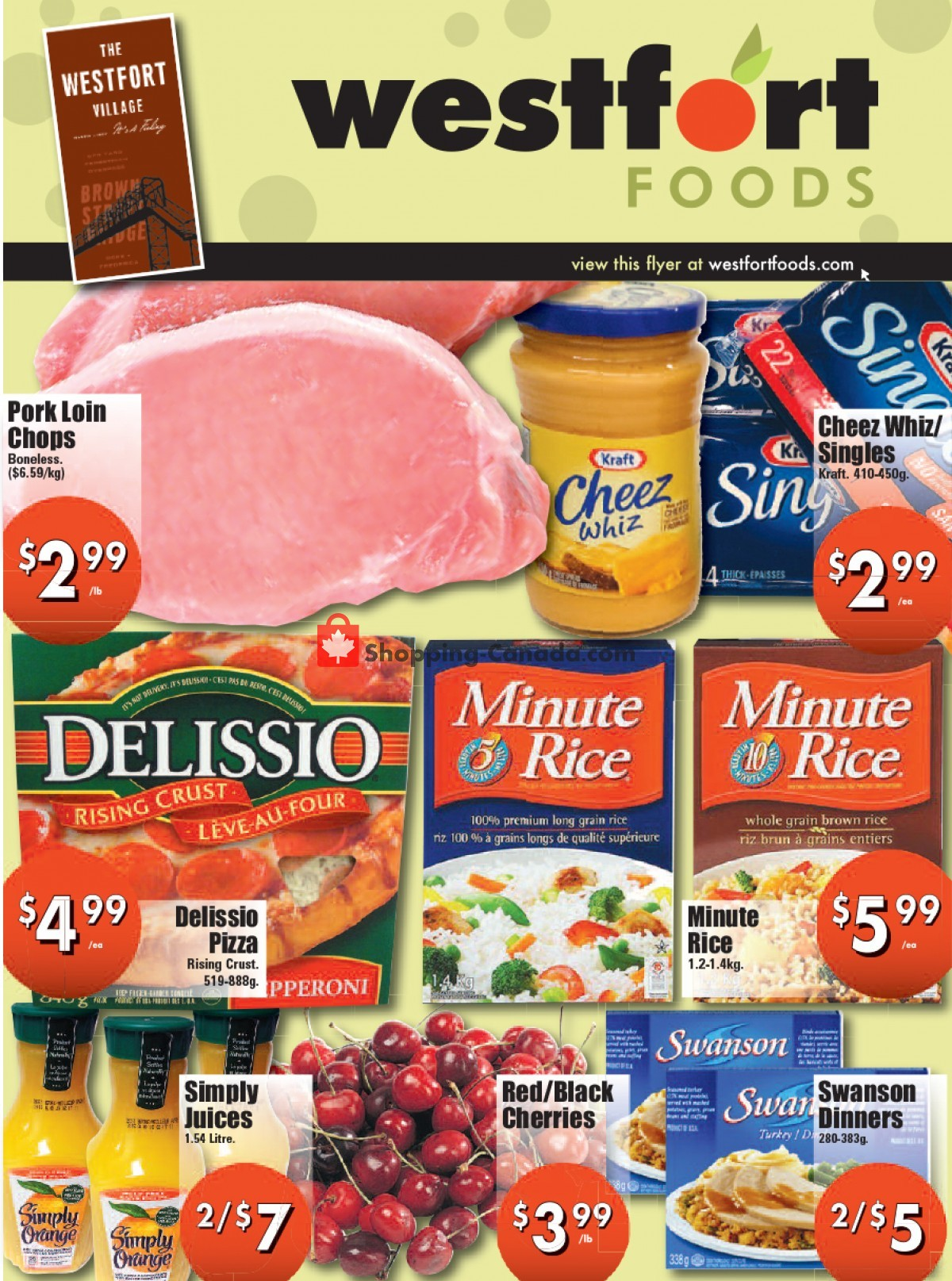 Flyer Westfort Foods Canada - from Friday July 16, 2021 to Thursday July 22, 2021