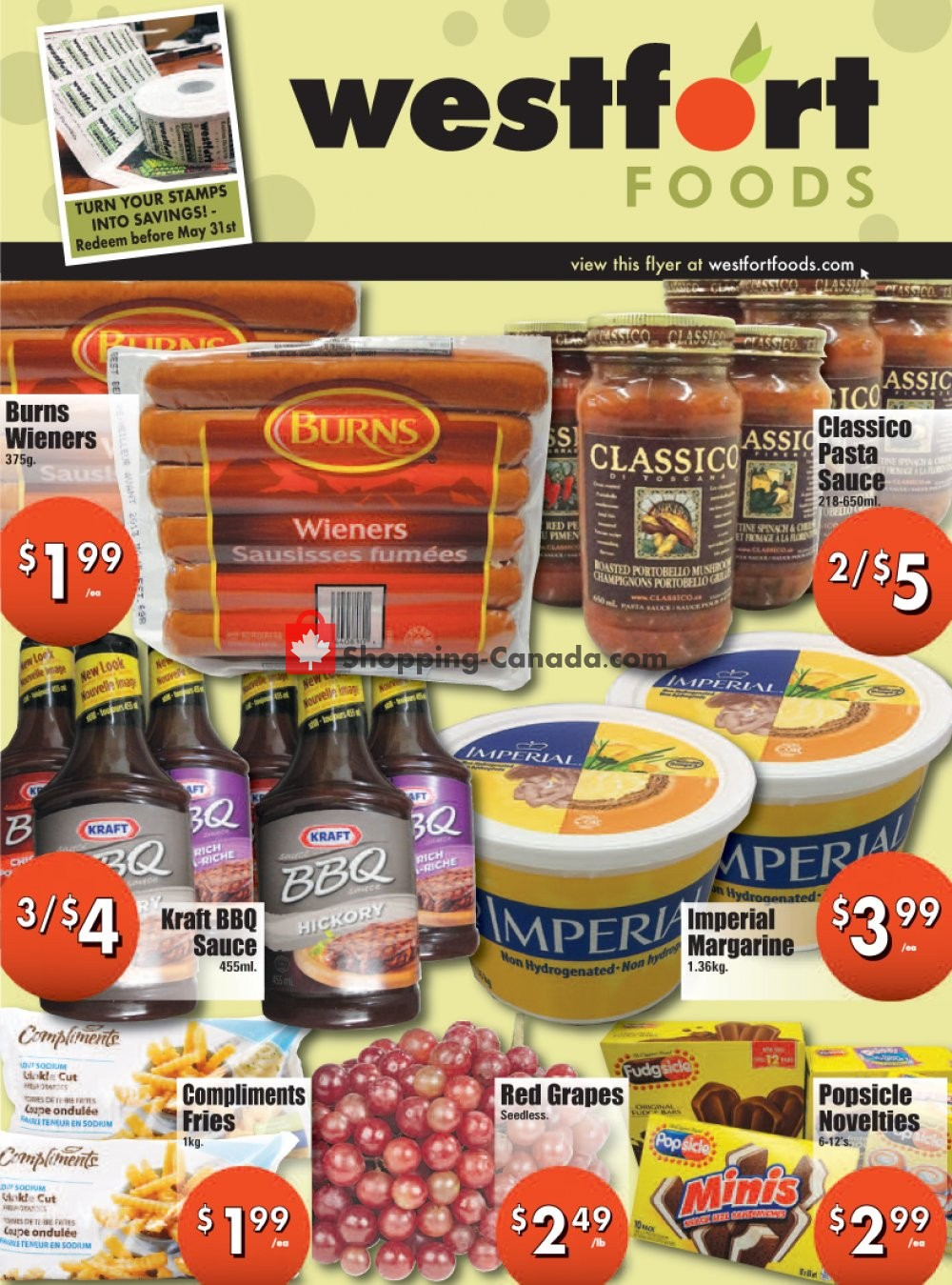 Flyer Westfort Foods Canada - from Friday May 3, 2019 to Thursday May 9, 2019