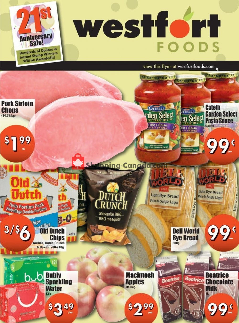 Flyer Westfort Foods Canada - from Friday November 8, 2019 to Thursday November 14, 2019