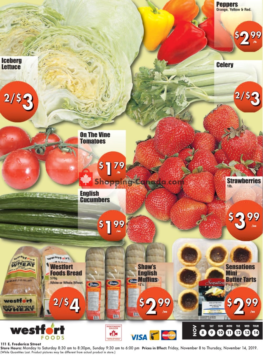 Flyer Westfort Foods Canada - from Friday November 8, 2019 to Thursday November 14, 2019