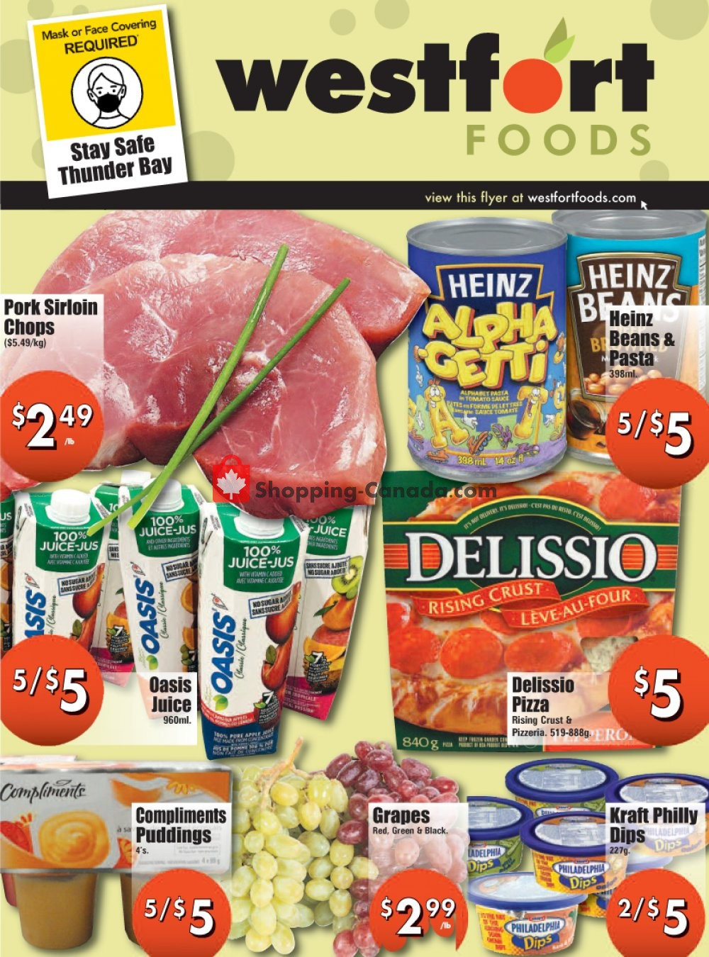 Flyer Westfort Foods Canada - from Friday October 16, 2020 to Thursday October 22, 2020