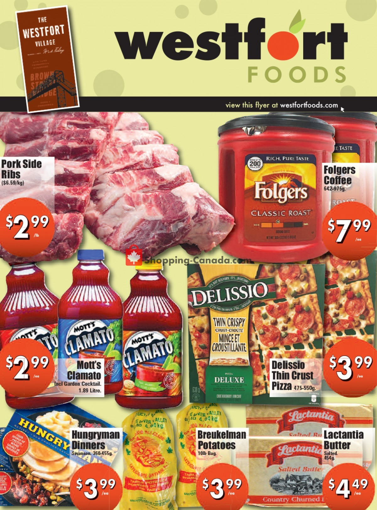 Flyer Westfort Foods Canada - from Friday October 8, 2021 to Thursday October 14, 2021
