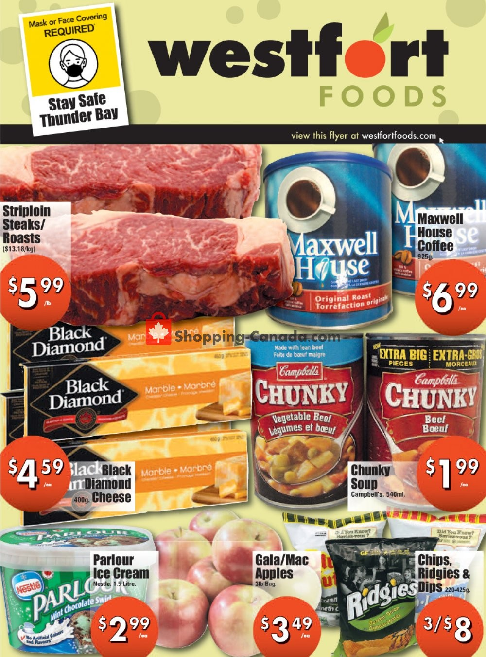 Flyer Westfort Foods Canada - from Friday October 9, 2020 to Thursday October 15, 2020