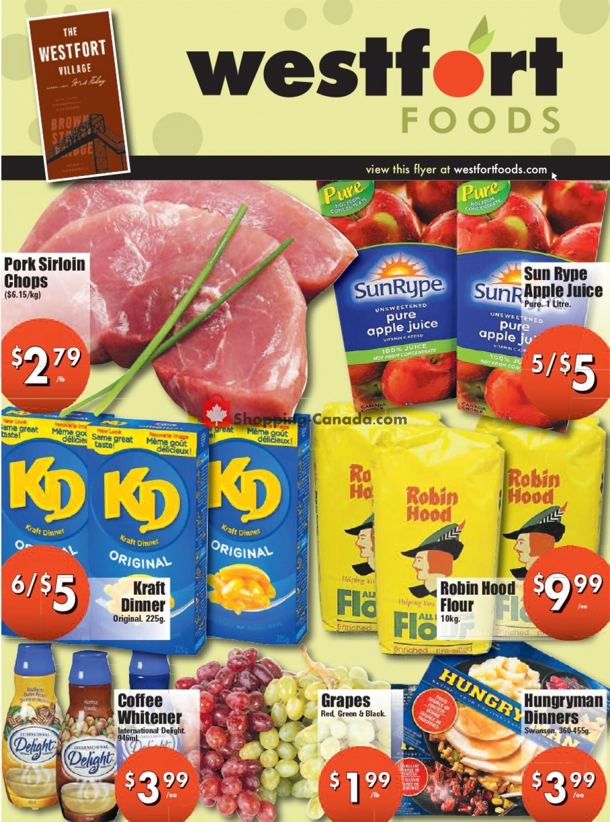 Flyer Westfort Foods Canada - from Friday September 10, 2021 to Thursday September 16, 2021