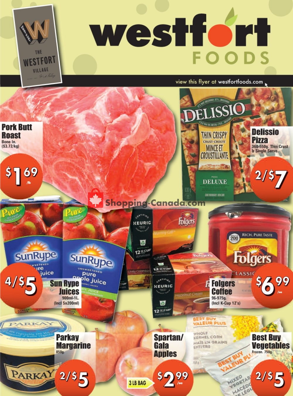 Flyer Westfort Foods Canada - from Friday January 15, 2021 to Thursday January 21, 2021
