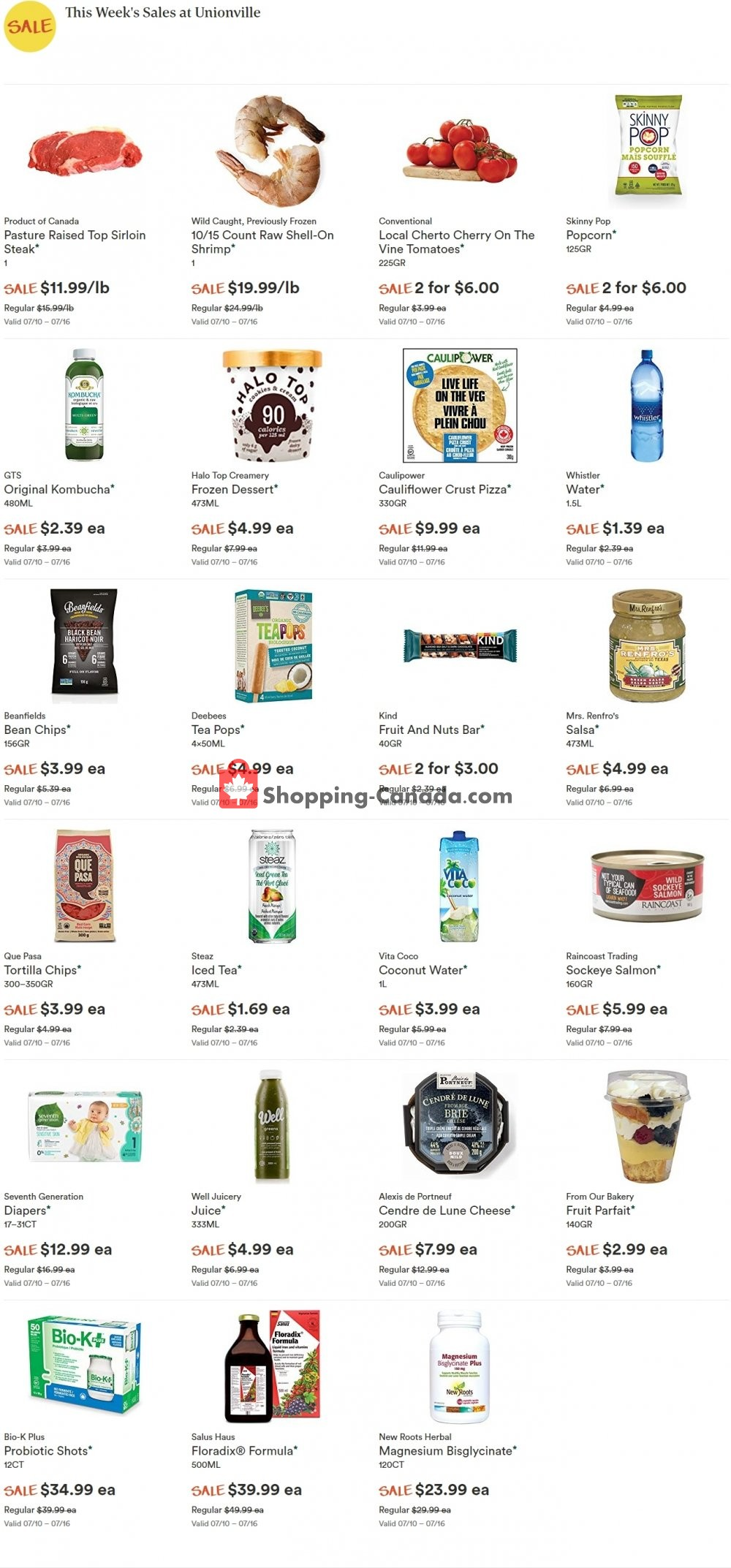 Flyer Whole Foods Market Canada - from Wednesday July 10, 2019 to Tuesday July 16, 2019