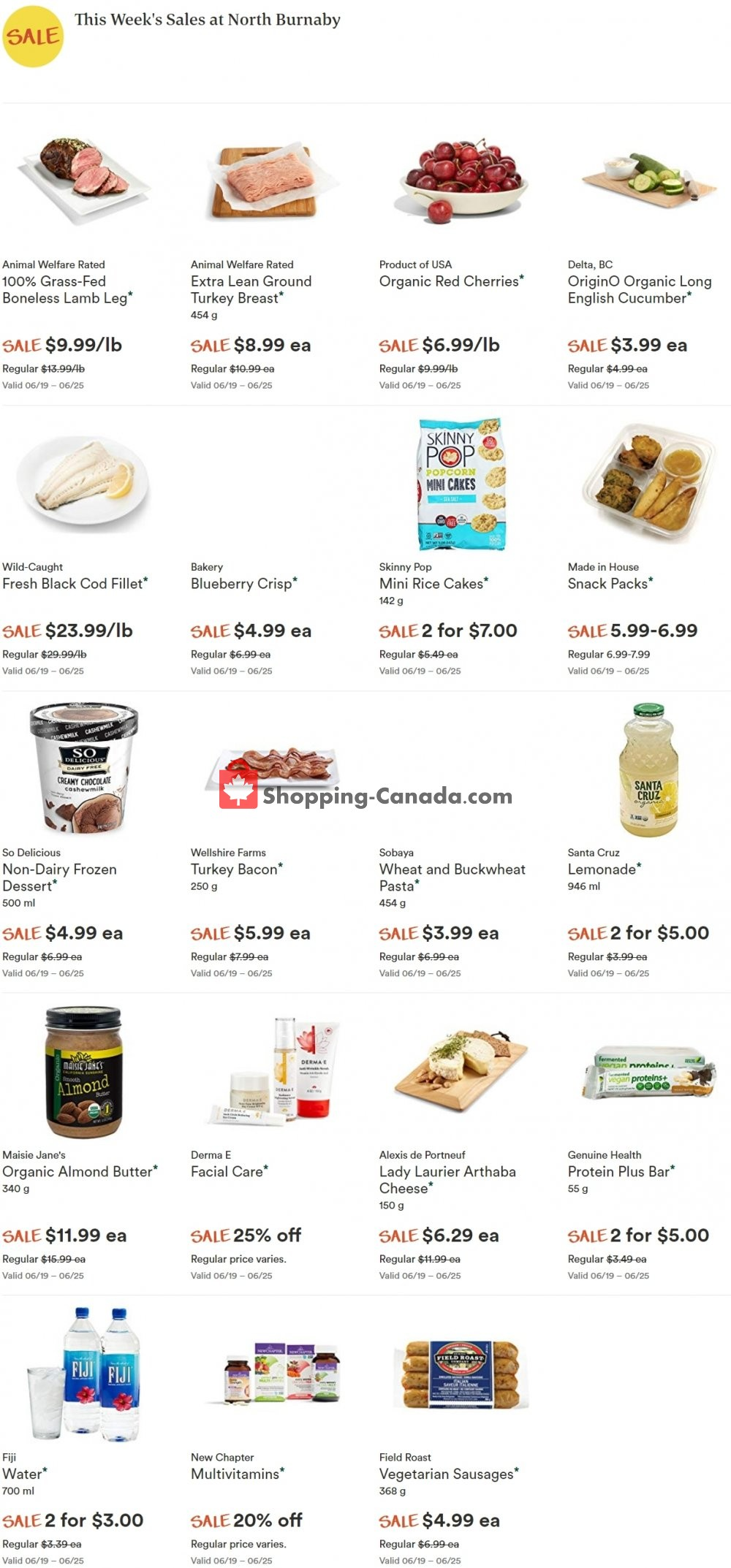 Flyer Whole Foods Market Canada - from Tuesday June 25, 2019 to Monday July 1, 2019