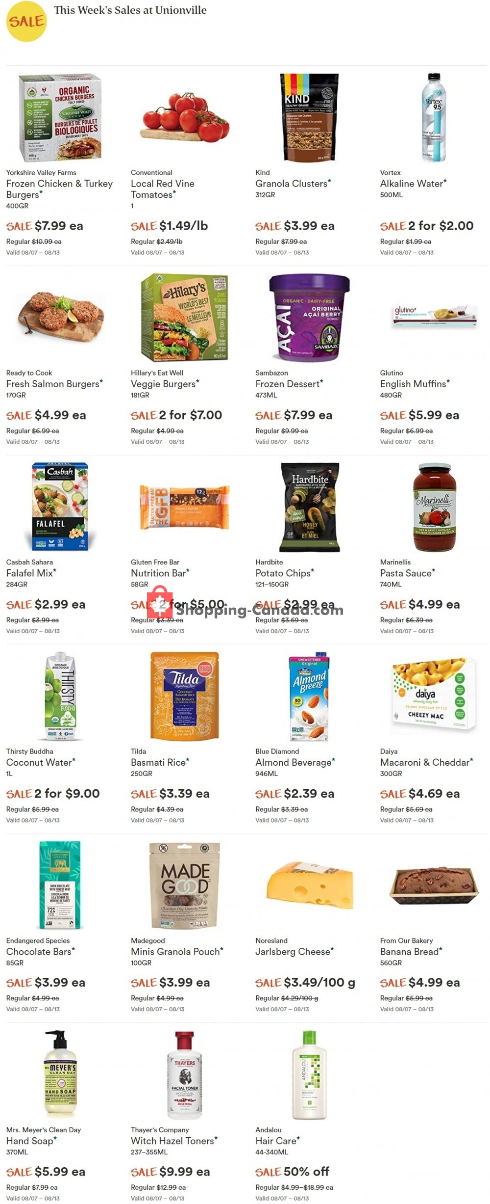 Flyer Whole Foods Market Canada - from Thursday August 8, 2019 to Wednesday August 14, 2019