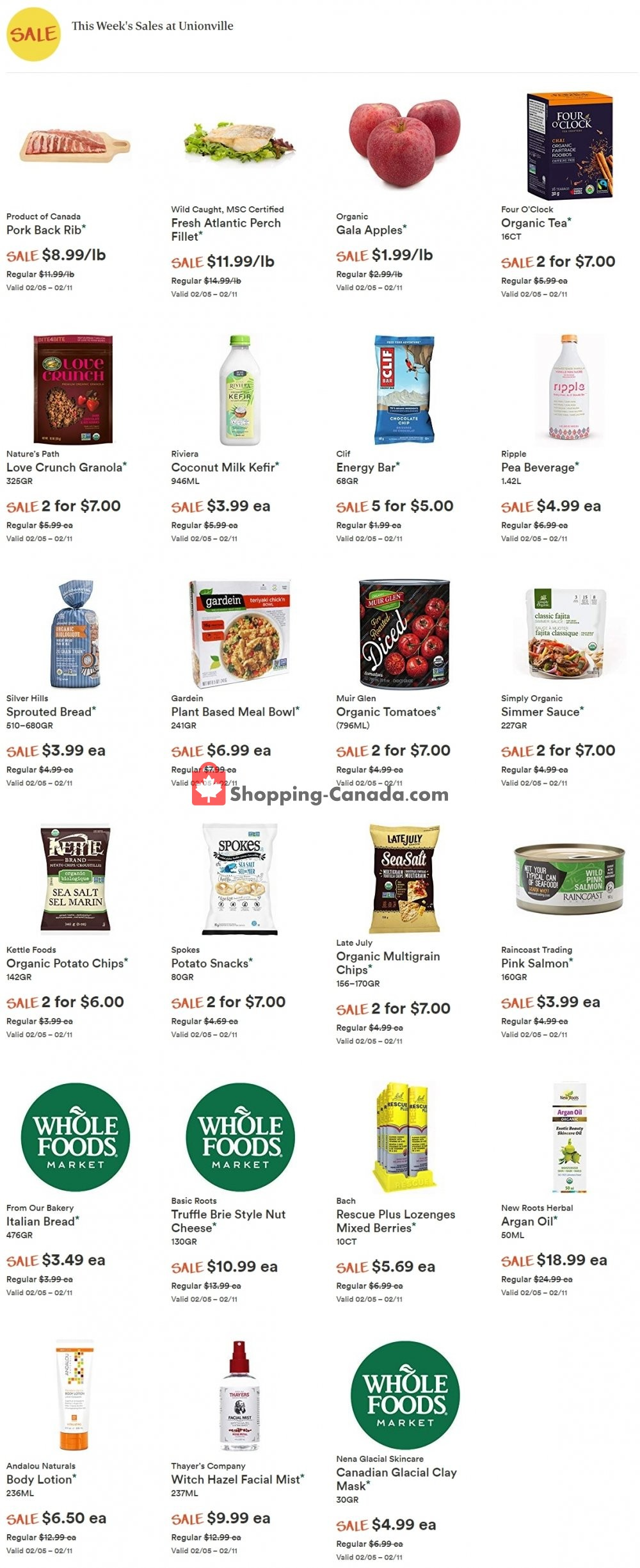 Flyer Whole Foods Market Canada - from Wednesday February 5, 2020 to Tuesday February 11, 2020
