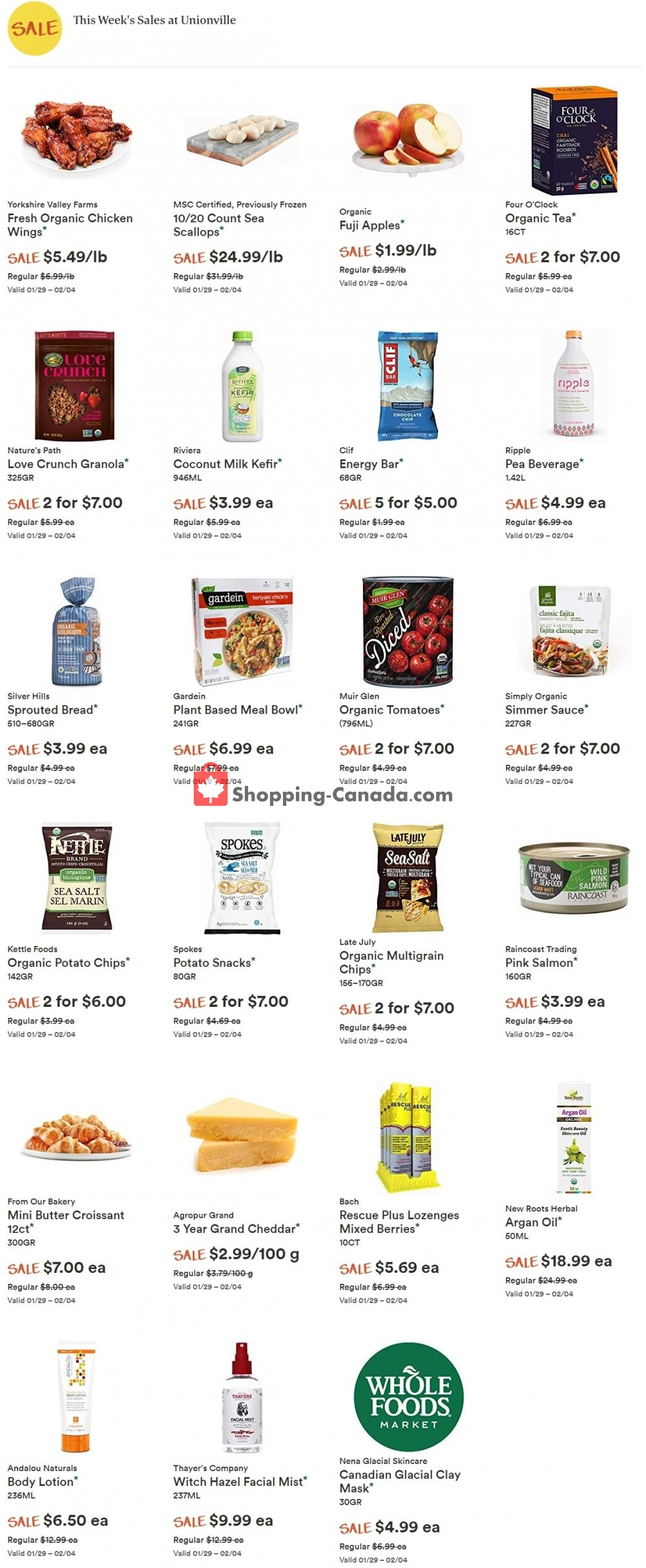 Flyer Whole Foods Market Canada - from Wednesday January 29, 2020 to Tuesday February 4, 2020