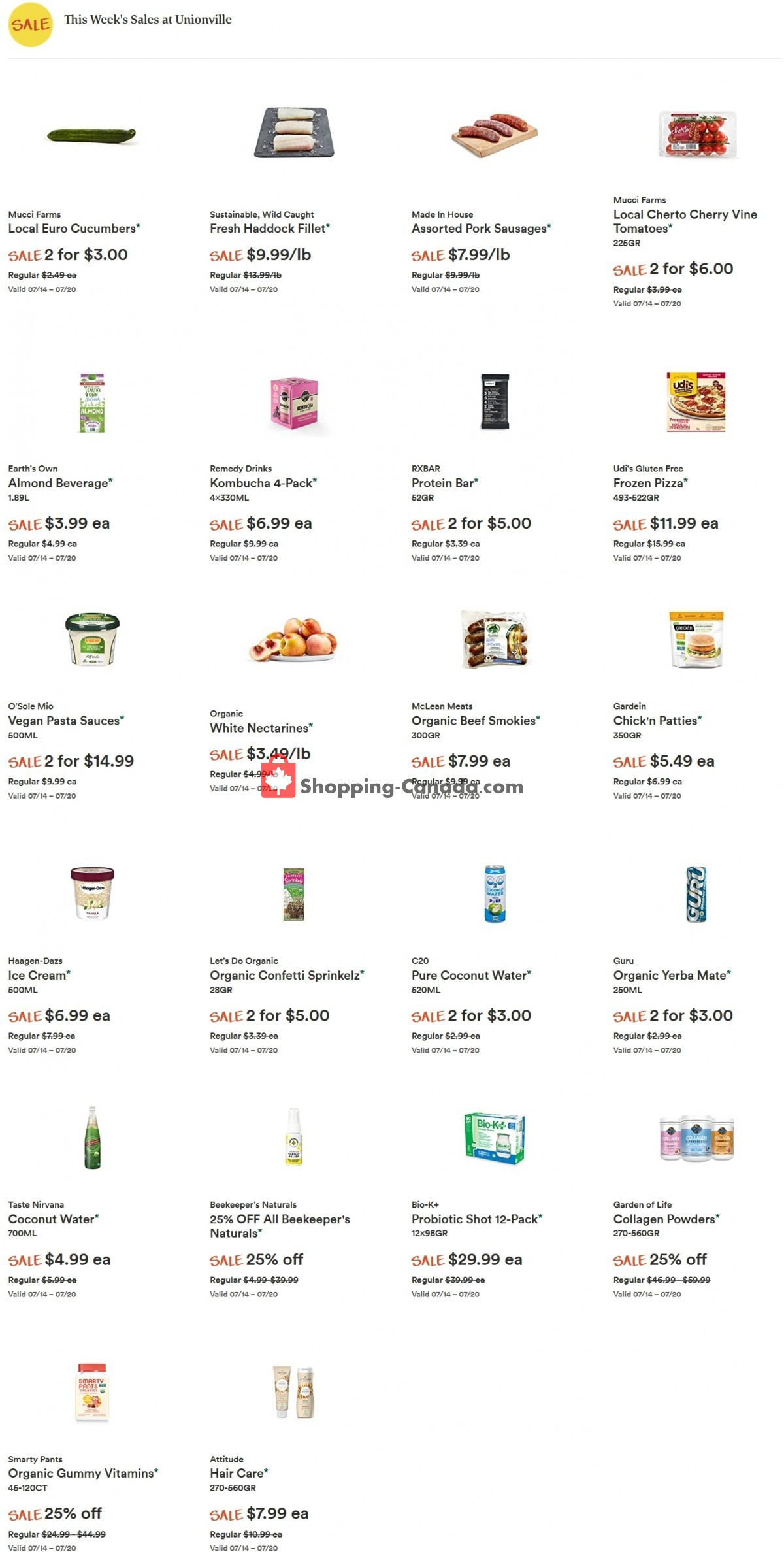 Flyer Whole Foods Market Canada - from Wednesday July 14, 2021 to Tuesday July 20, 2021