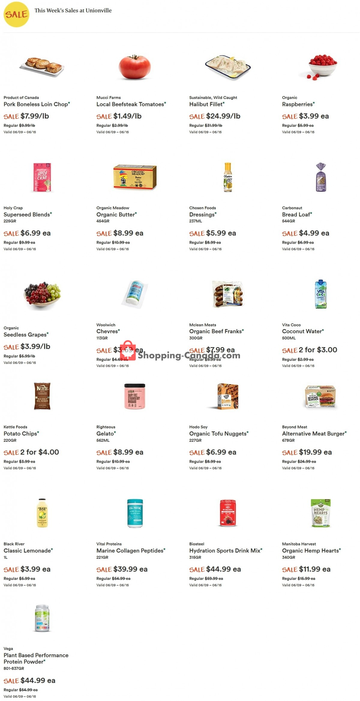 Flyer Whole Foods Market Canada - from Wednesday June 9, 2021 to Tuesday June 15, 2021