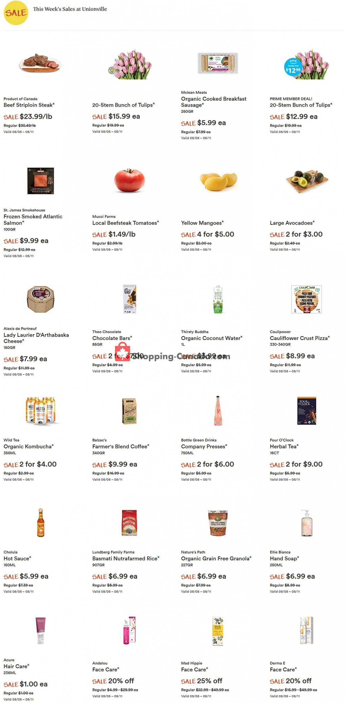 Flyer Whole Foods Market Canada - from Wednesday May 5, 2021 to Tuesday May 11, 2021