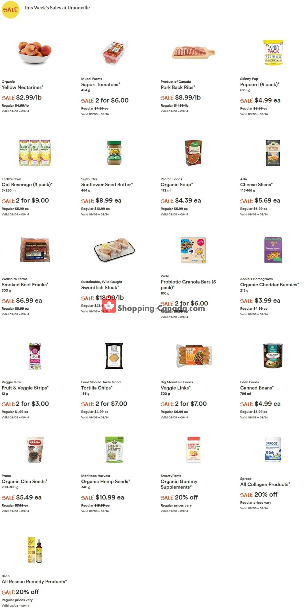 Flyer Whole Foods Market Canada - from Wednesday September 8, 2021 to Tuesday September 14, 2021