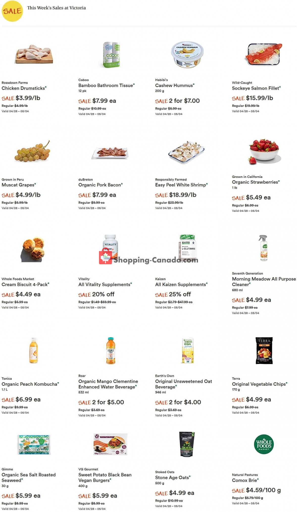 Flyer Whole Foods Market Canada - from Wednesday April 28, 2021 to Tuesday May 4, 2021
