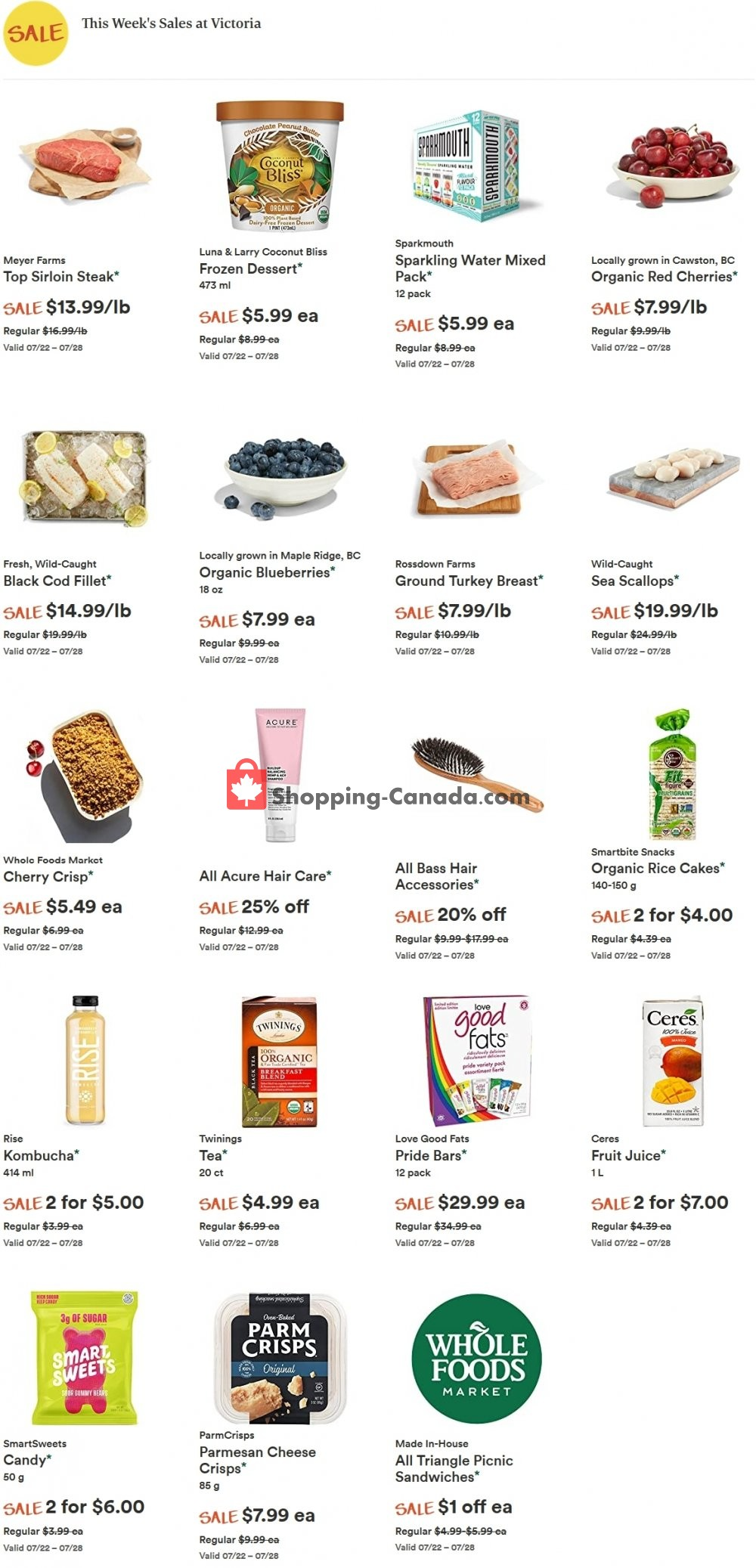 Flyer Whole Foods Market Canada - from Wednesday July 22, 2020 to Tuesday July 28, 2020