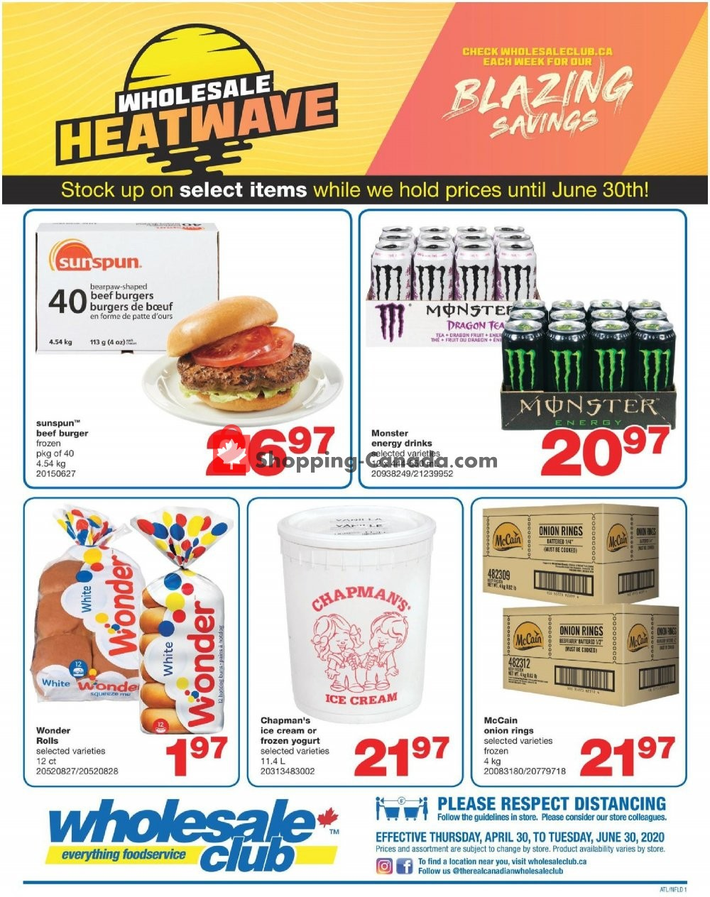 Flyer Wholesale Club Canada - from Thursday April 30, 2020 to Tuesday June 30, 2020