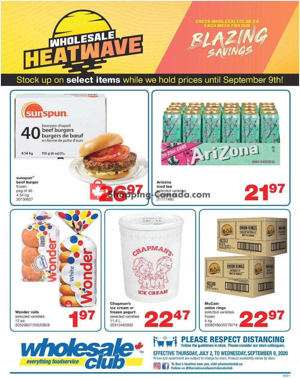 Flyer Wholesale Club Canada - from Thursday July 2, 2020 to Wednesday September 9, 2020