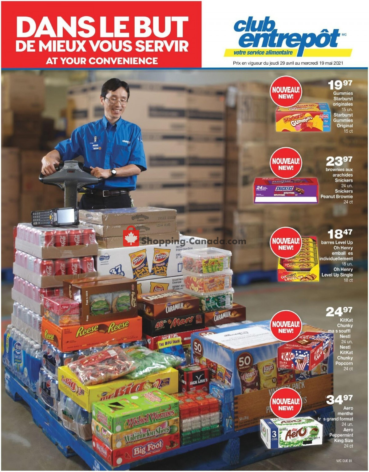 Flyer Wholesale Club Canada - from Thursday April 29, 2021 to Wednesday May 19, 2021
