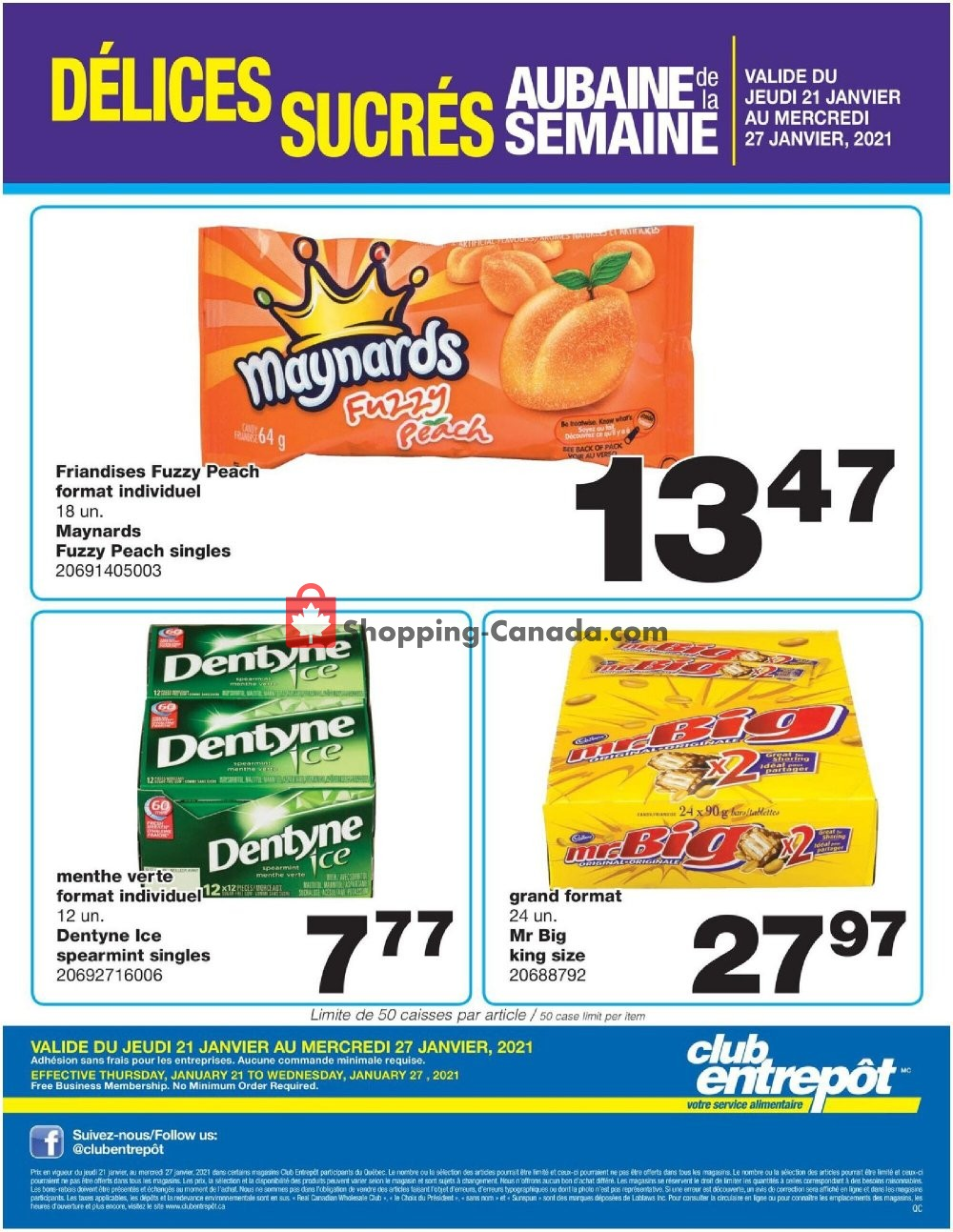Flyer Wholesale Club Canada - from Thursday January 21, 2021 to Wednesday January 27, 2021