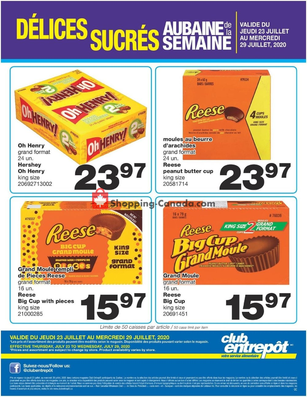Flyer Wholesale Club Canada - from Thursday July 23, 2020 to Wednesday July 29, 2020