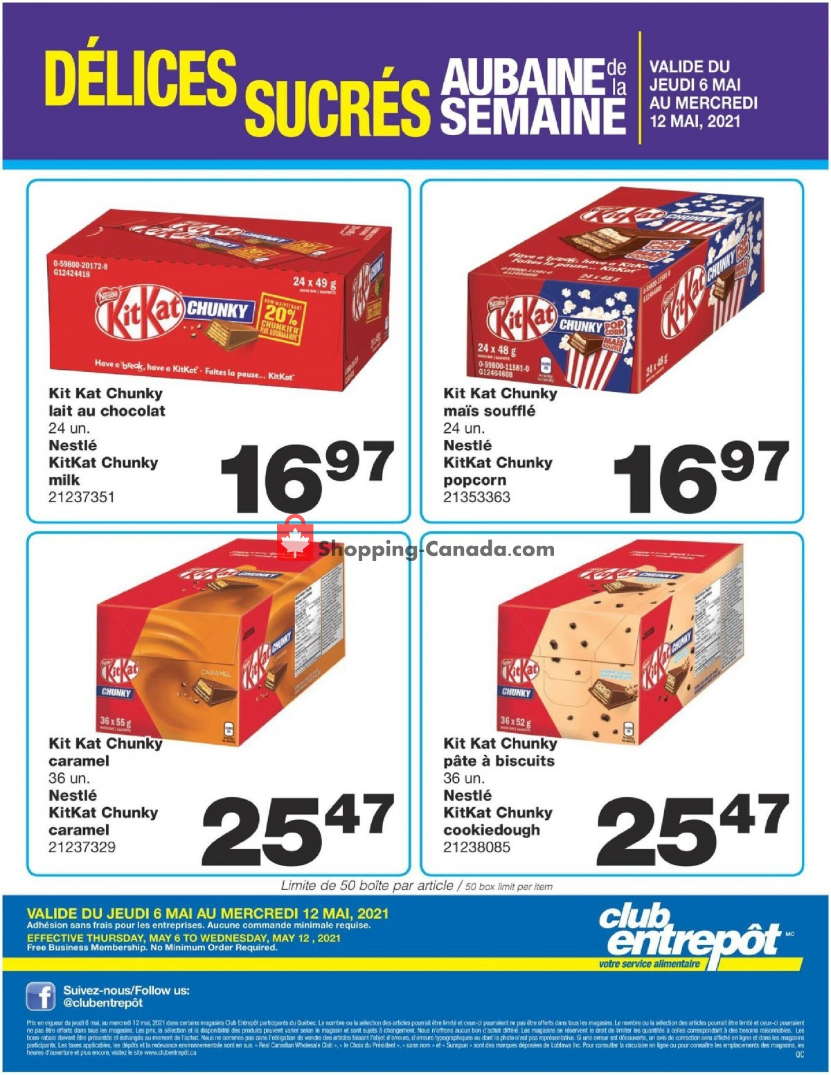 Flyer Wholesale Club Canada - from Thursday May 6, 2021 to Wednesday May 12, 2021