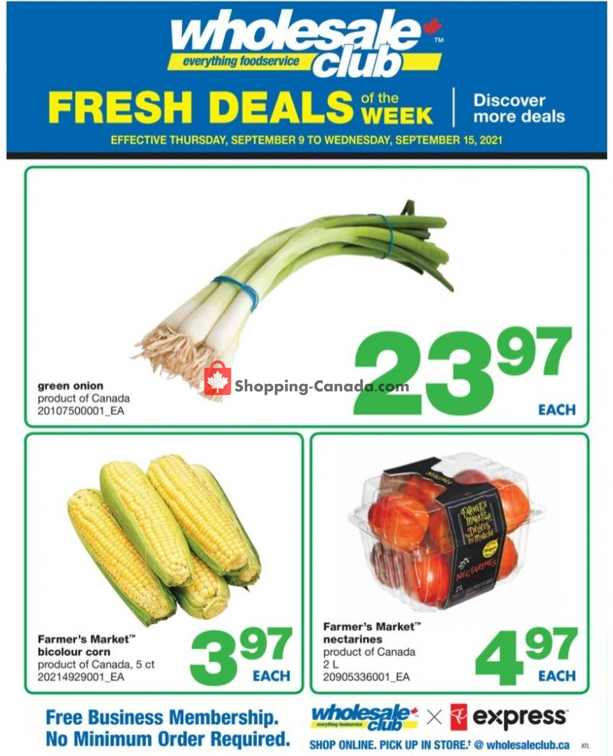 Flyer Wholesale Club Canada - from Thursday September 9, 2021 to Wednesday September 15, 2021