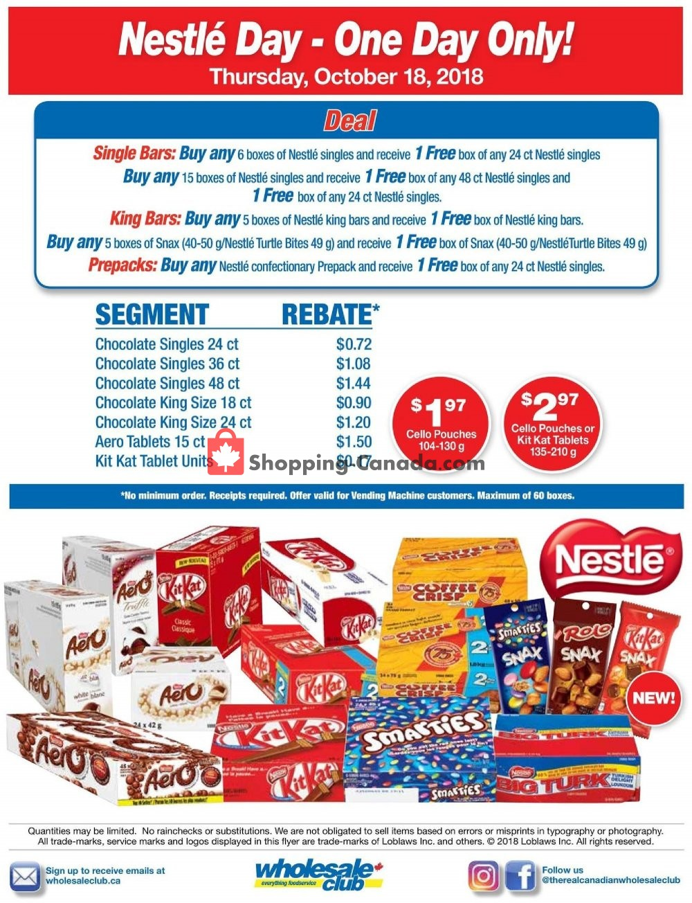 Flyer Wholesale Club Canada - from Thursday October 18, 2018 to Thursday October 18, 2018
