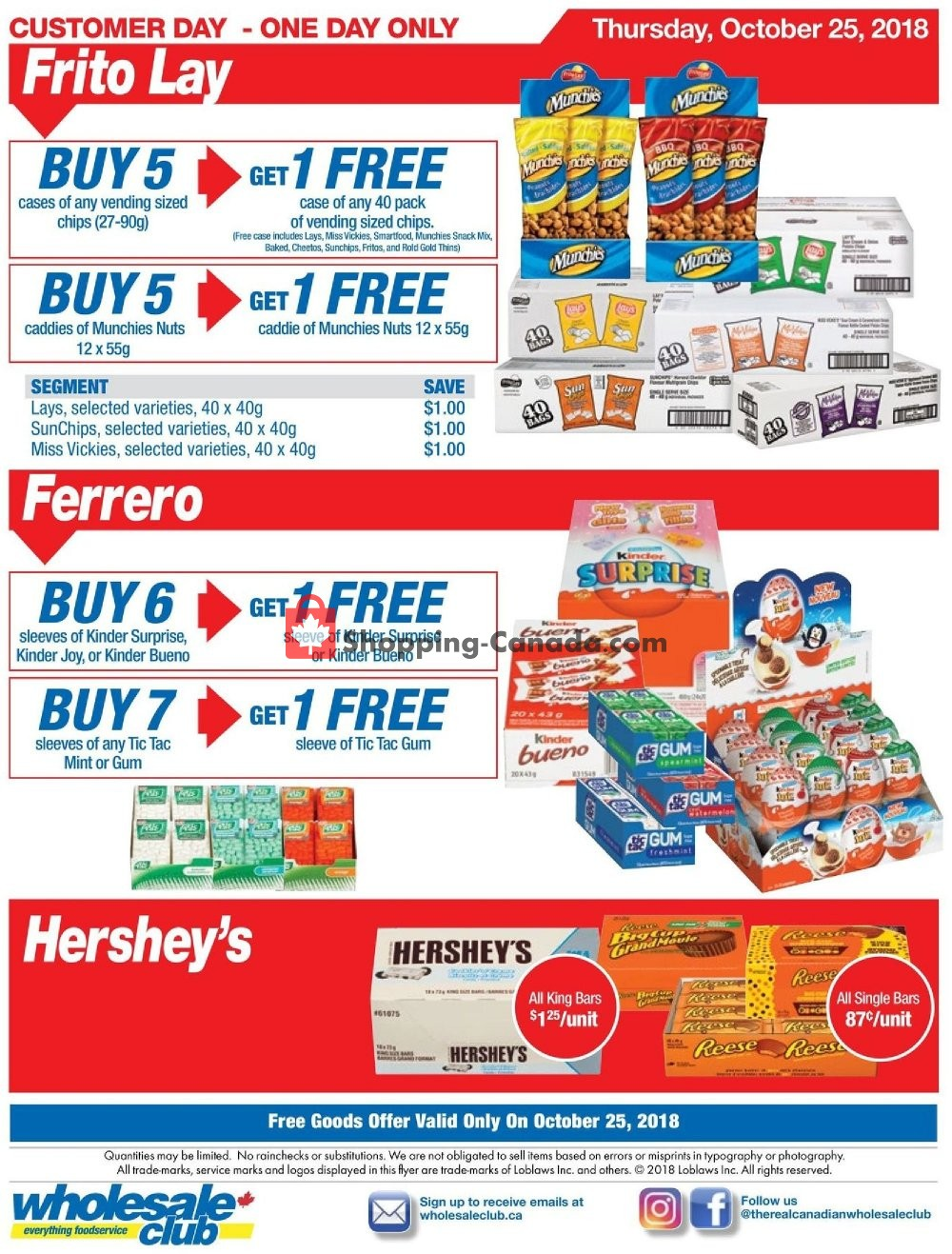 Flyer Wholesale Club Canada - from Thursday October 25, 2018 to Thursday October 25, 2018