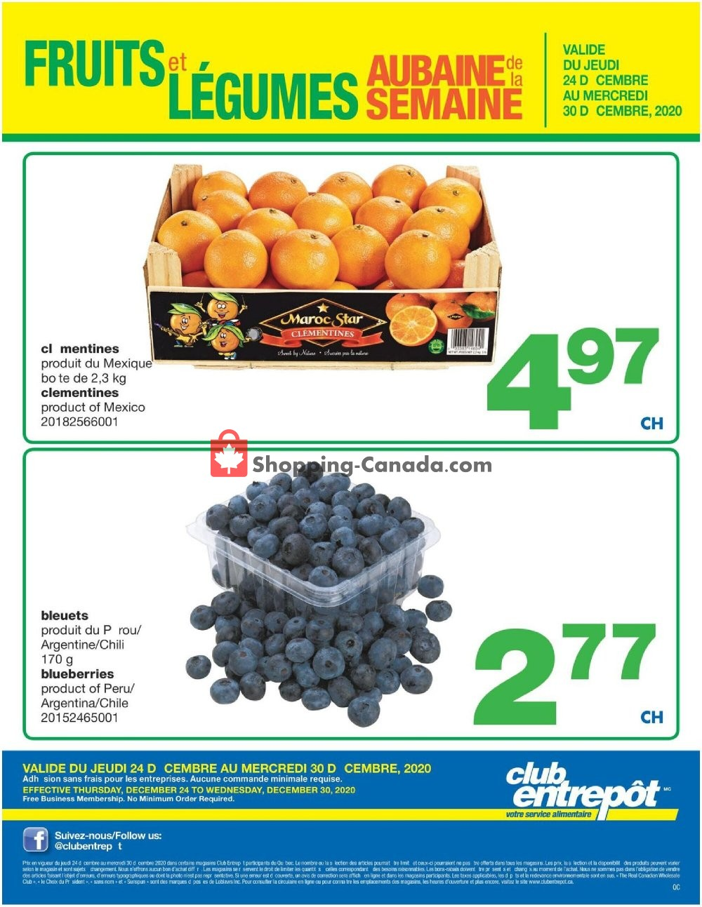 Flyer Wholesale Club Canada - from Thursday December 24, 2020 to Wednesday December 30, 2020