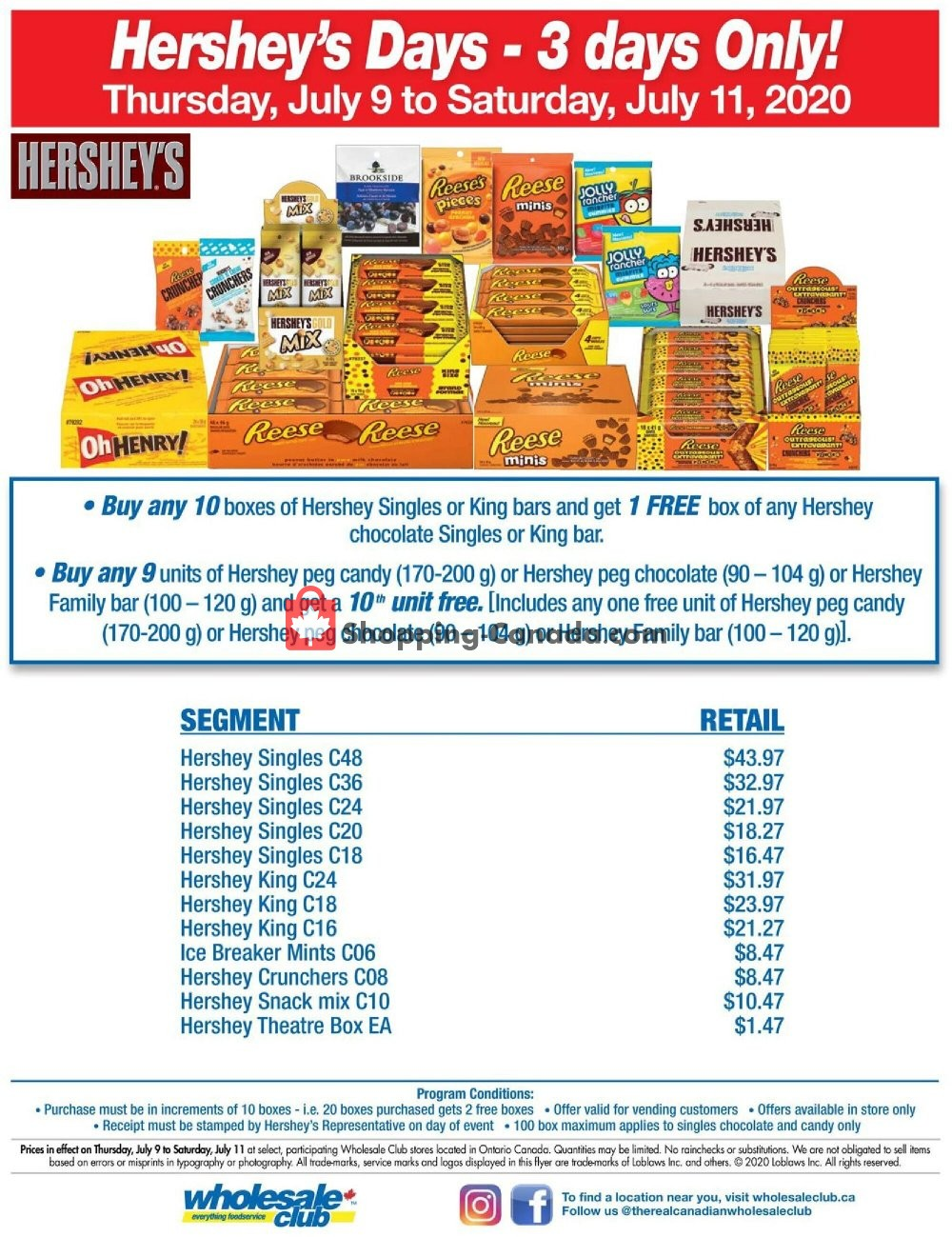 Flyer Wholesale Club Canada - from Thursday July 9, 2020 to Saturday July 11, 2020