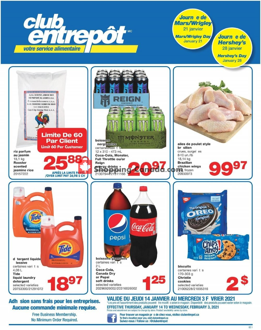 Flyer Wholesale Club Canada - from Thursday January 14, 2021 to Wednesday February 3, 2021
