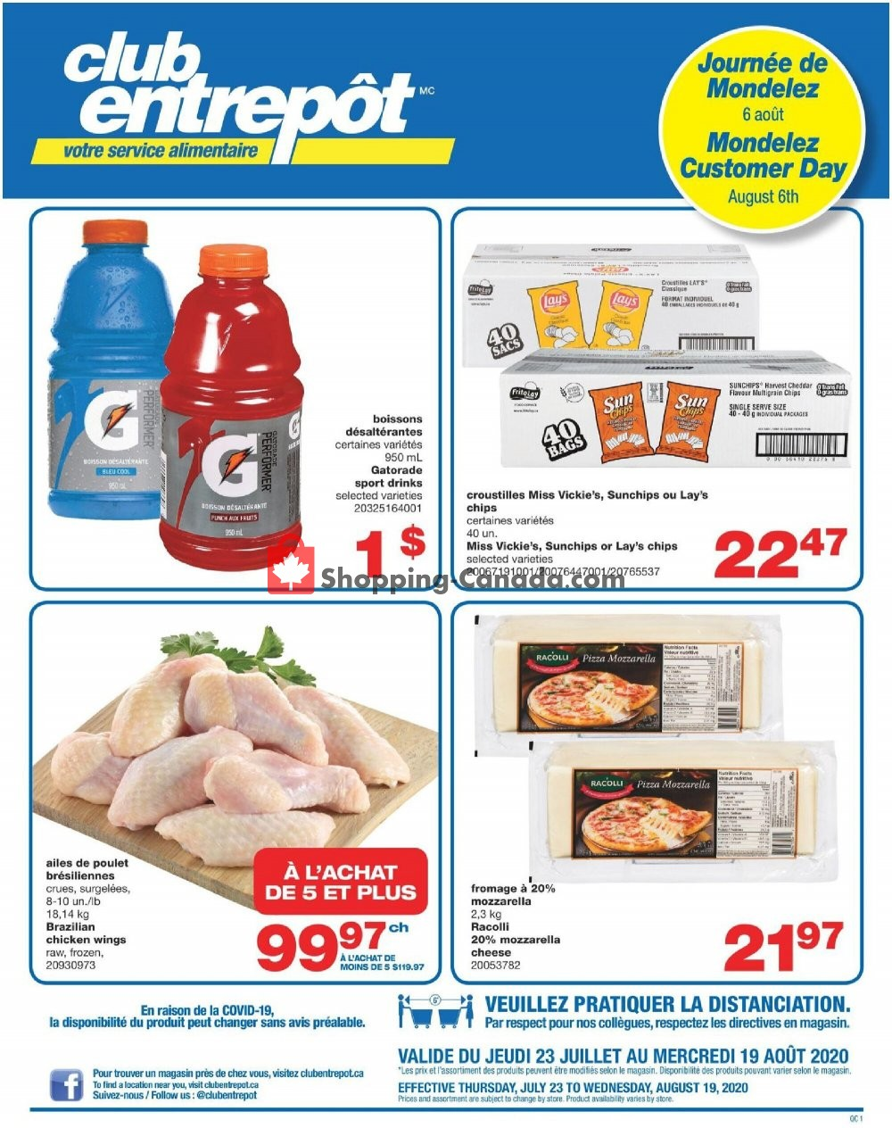 Flyer Wholesale Club Canada - from Thursday July 23, 2020 to Wednesday August 19, 2020