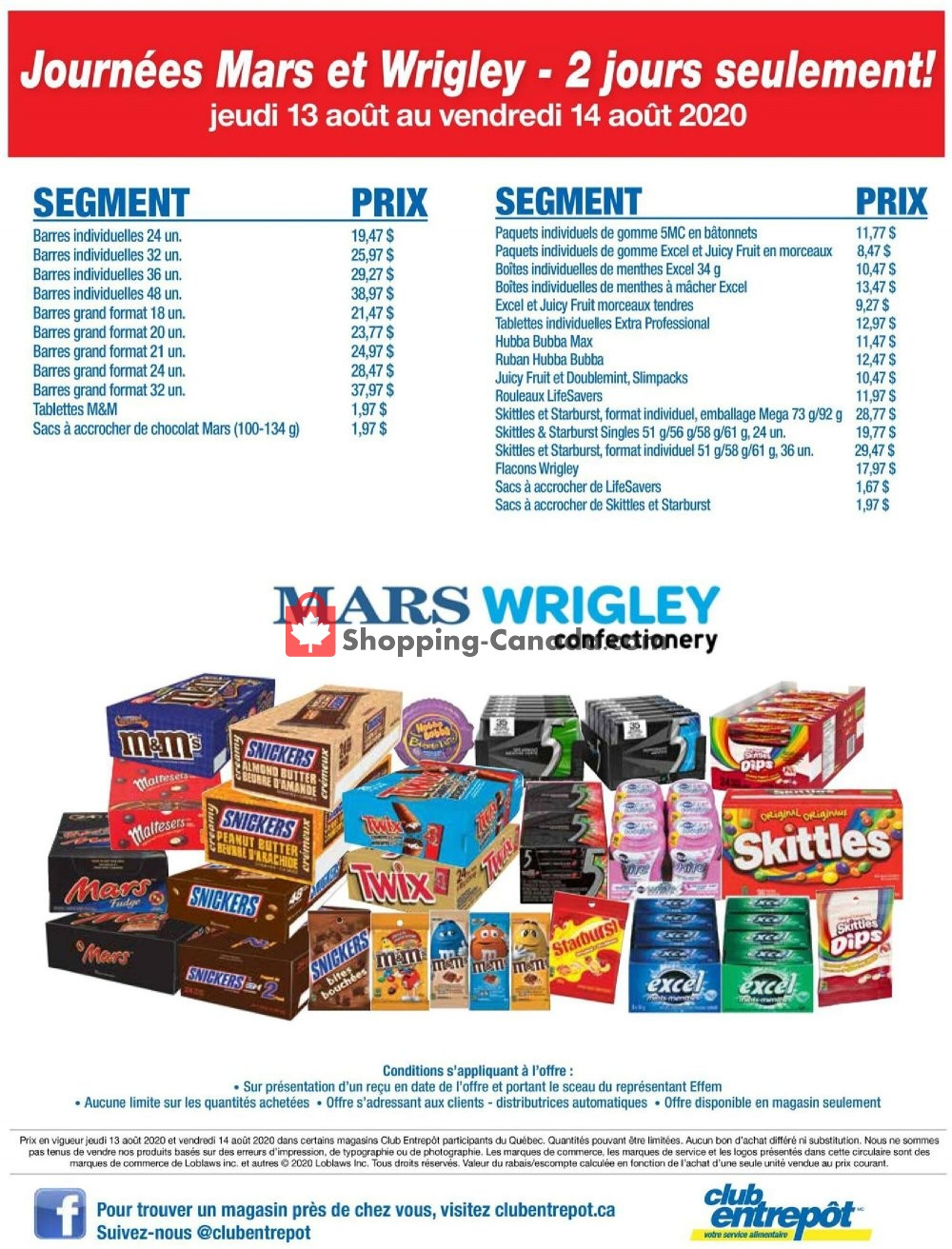 Flyer Wholesale Club Canada - from Thursday August 13, 2020 to Friday August 14, 2020
