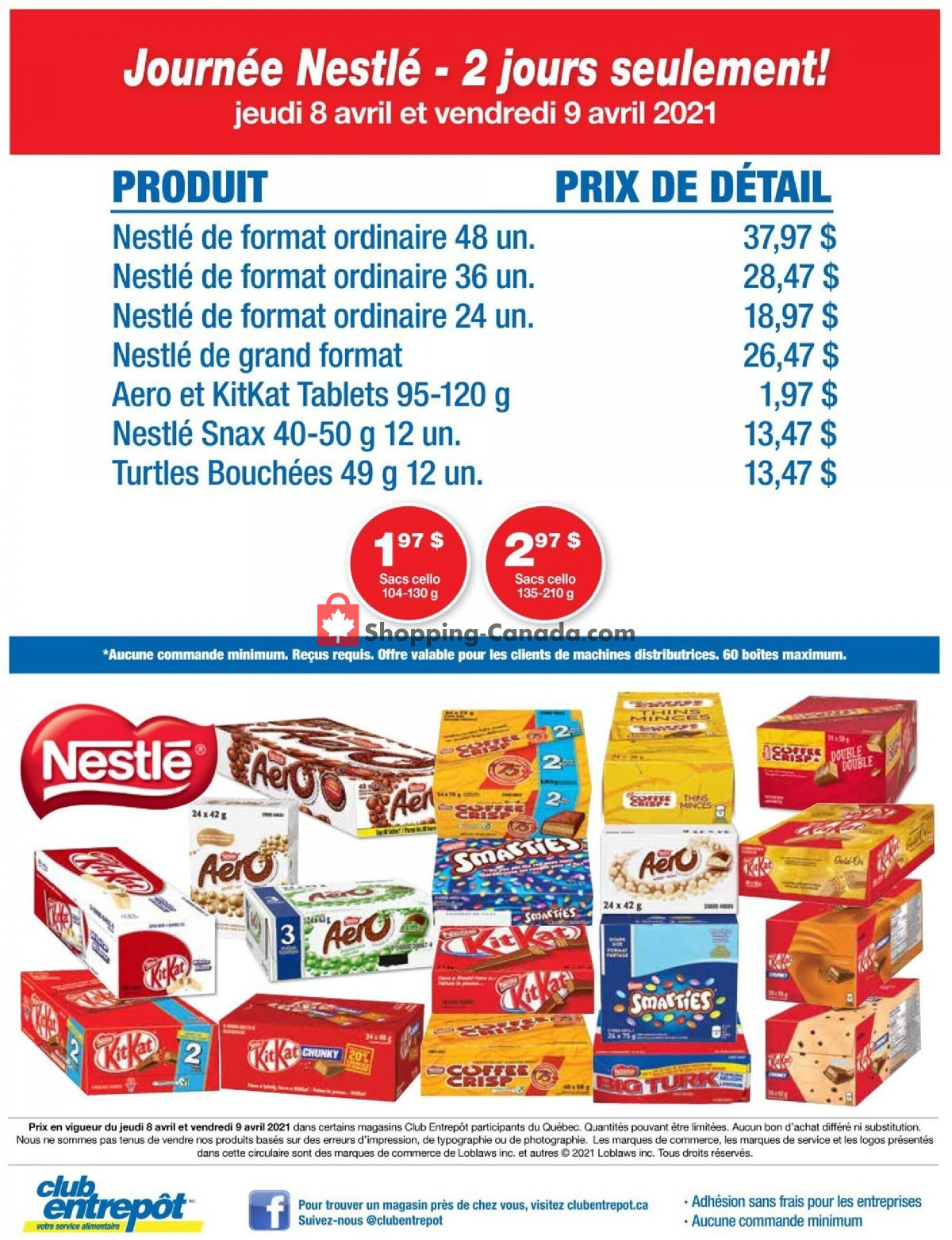 Flyer Wholesale Club Canada - from Thursday April 8, 2021 to Thursday April 8, 2021