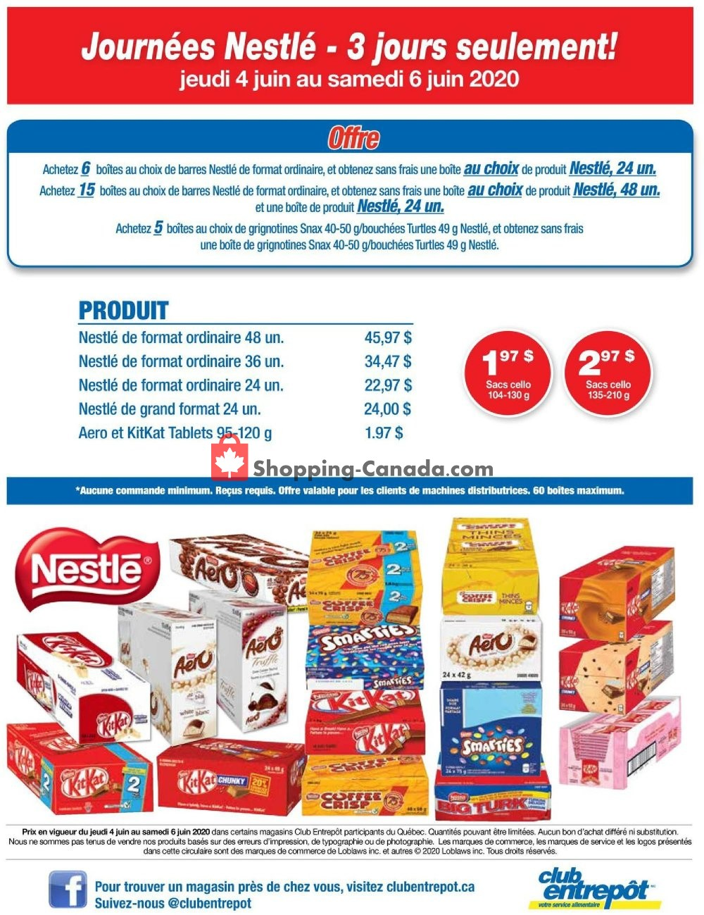 Flyer Wholesale Club Canada - from Thursday June 4, 2020 to Saturday June 6, 2020