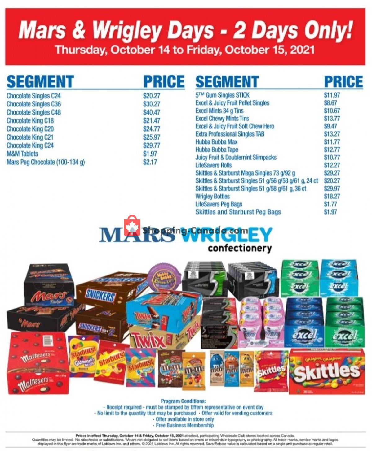 Flyer Wholesale Club Canada - from Thursday October 14, 2021 to Friday October 15, 2021