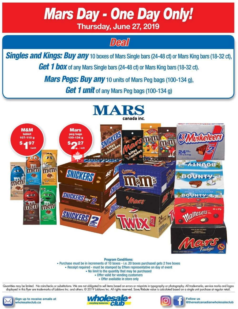 Flyer Wholesale Club Canada - from Thursday June 27, 2019 to Thursday June 27, 2019