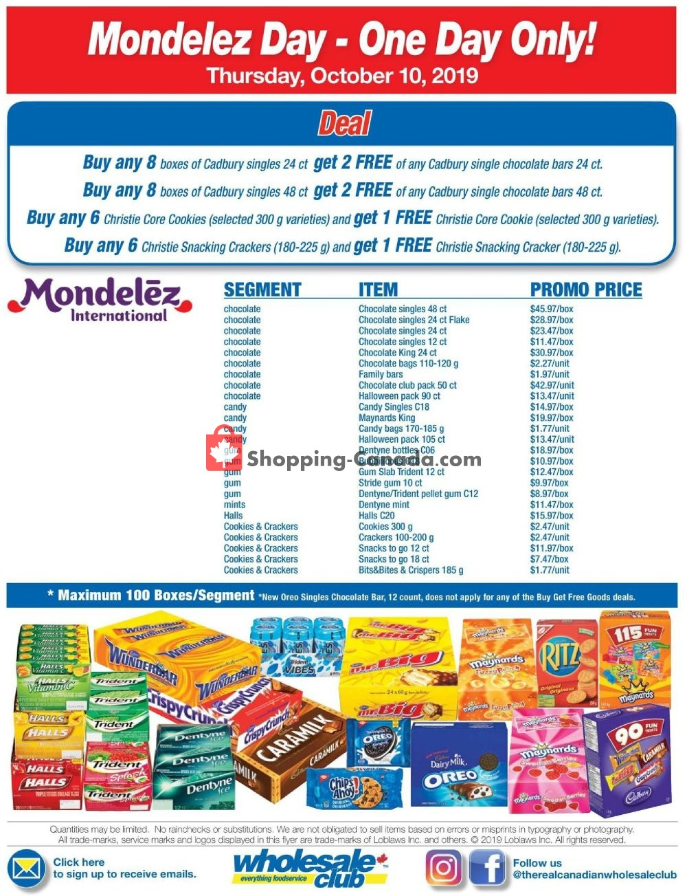 Flyer Wholesale Club Canada - from Thursday October 10, 2019 to Thursday October 10, 2019