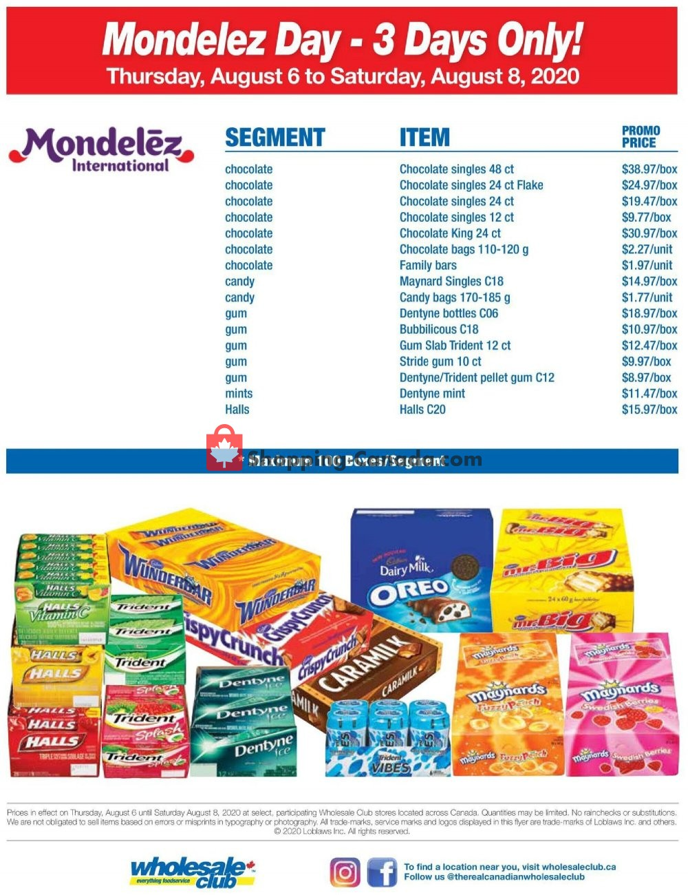 Flyer Wholesale Club Canada - from Thursday August 6, 2020 to Saturday August 8, 2020
